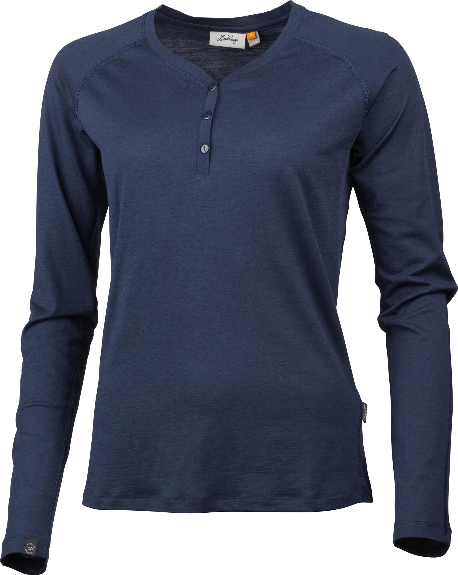 Lundhags Gimmer Langærmet T shirt Damer, deep blue